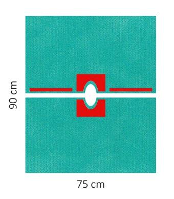 Lochtücher Raucodrape® PRO variabel, selbstklebend