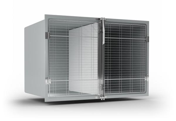 Tierbox indulab Typ 2DT/ TW mit Gittertür aus glasfaserverstärktem Polyester