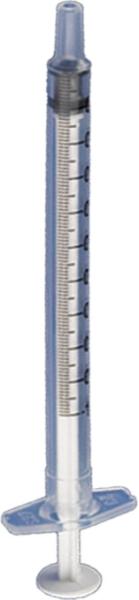Einmalspritze TBC, 1 ml, mit Spardorn, ohne Kanüle, 100 Stück [CHTUB01]