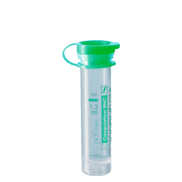 Mikro-Probengefäß 1,3 ml, PE-Softstopfen, Gerinnung, mit Etikett, 100 Stück