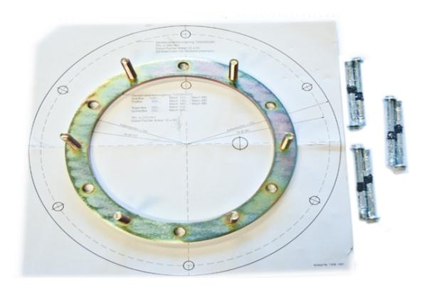 Deckenverankerungsring 420 mm für Kombinationen