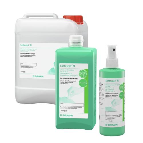 Softasept® N farblos und G gefärbt - alkoholisches Hautdesinfektionsmittel