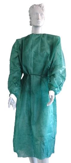 Schutzkittel grün Strickbündchen 125 cm lang 10 Stück