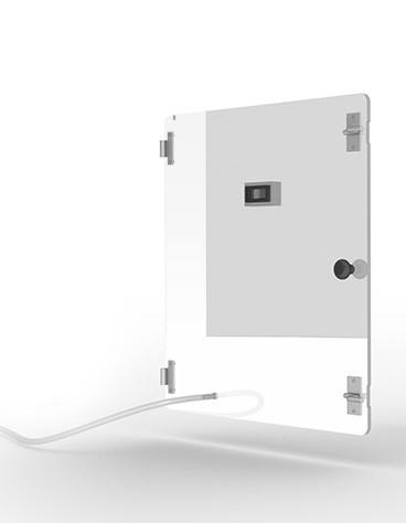 Tür für Typ 2 aus Polycarbonat mit Sauerstoffanschluss