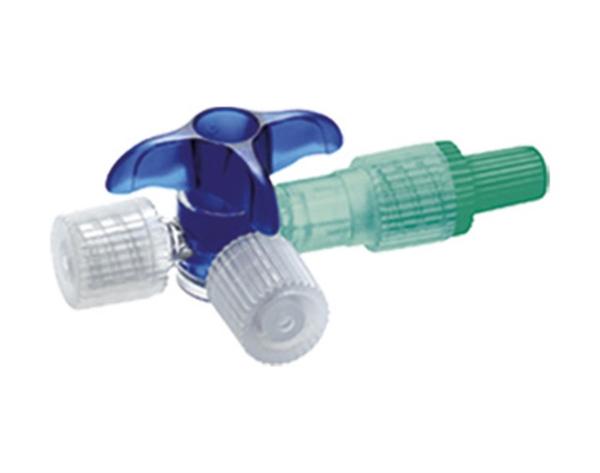 Dreiwegehahn Connecta Plus 3, blau, 100 Stück