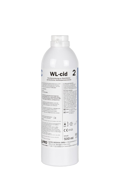 WL-cid, 500 ml Sprühdose zur manuellen Desinfektion von Hohlkörpern