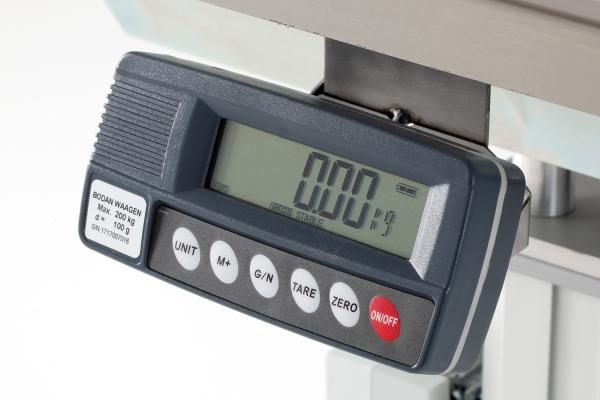 Option integrierte Waage 0-150 kg, Wägeschritt 50 g