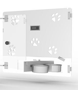 Tür für Typ 1 aus Polycarbonat mit drehbarer Futterstation