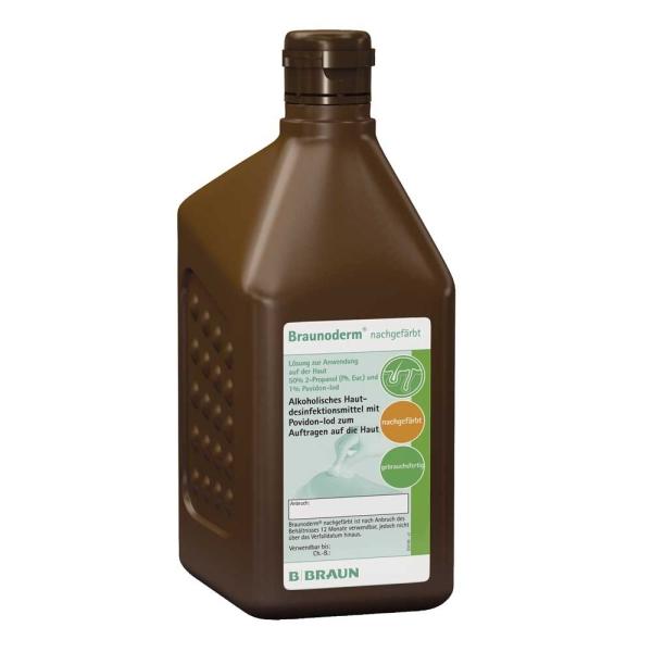 Hautdesinfektion farblos und gefärbt eine Kombination aus Alkohol und PVP-Iod