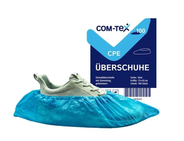 Co-med OP-Überschuhe aus CPE, blau, 15 x 42 cm, 100 Stück