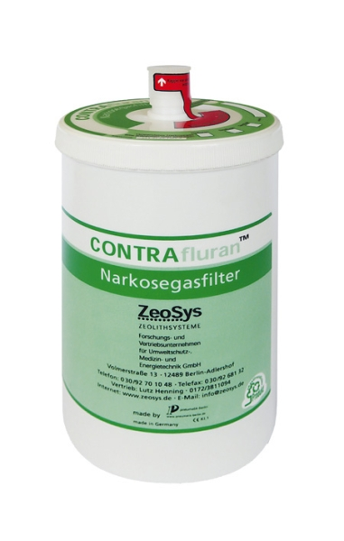 Contrafluran TM Narkosefilter mit Speicherkapazität ca 400 g
