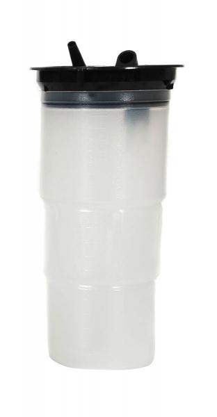 3 Liter Einweg-Sekretbehälter Standard ø 8.5mm Anschluss mit Filter und Gel 20 Stück