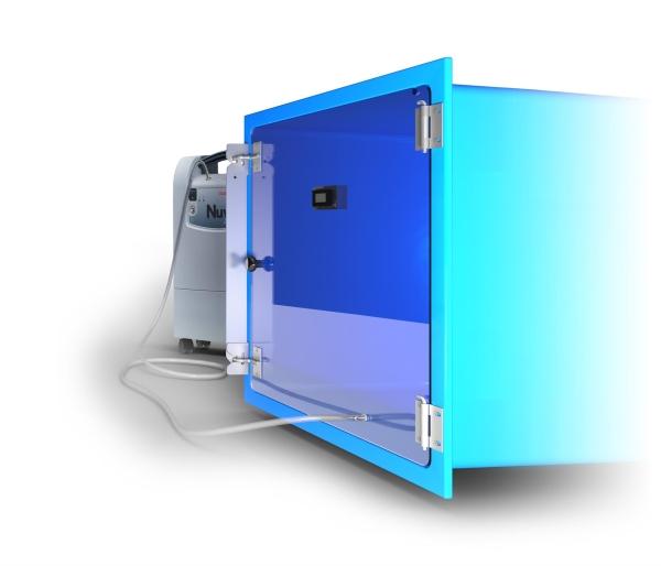 Sauerstoffbox ohne Gittertür modular konfigurierbar