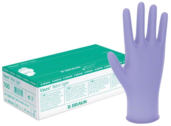Vasco® Nitril light lavendel-blauer Untersuchungshandschuh