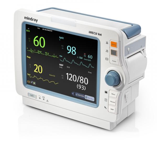 iMEC8 Vet ohne Touchscreen SpO2, 3/5 Kanal EKG, NIBP, 2*TEMP, IBP, CO2, Recorder, SD Karte,