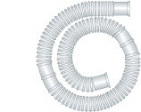 Faltenschlauch 22 mm weiß Schnittstelle alle 40 cm Meterware