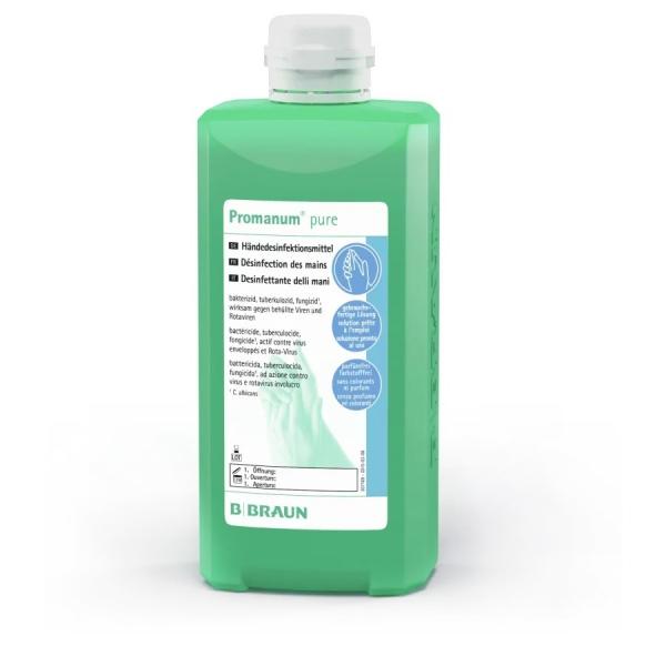 Promanum® pure Händedesinfektion für normale Haut, parfüm-und farbstofffrei