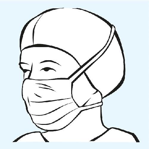 Foliodress mask Comfort Anti-splash, Typ II R, 40 Stück