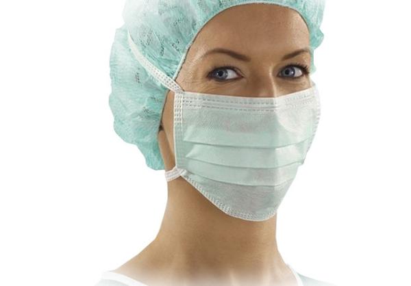 Sentinex OP-Maske zum Binden Lite, blau, unsteril, 50 Stück